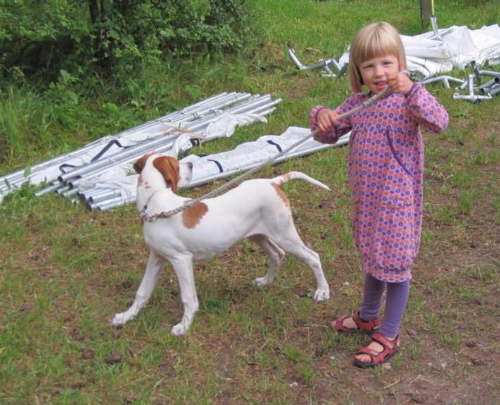 Caroline med Storm sommer 2012